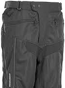 Motorcycle pants waist closure example