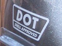 DOT Snell combo decal