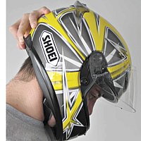 Helmet roll-off test