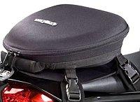 Low profile tank bags keep you bike's sleek look...