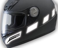 Reflective material on your helmet is good safety accent