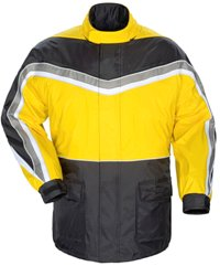 Click here for a rain jacket with easy-on polyester mesh lining...