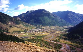 Silverton frm above on the MIllion Dollar Highway