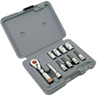 Looking for a mini socket set?  Click here for a great place to find a compact socket set you can carry for emergencies.