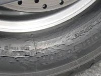 Dry rot and tire age can cause cracking