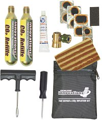 Looking for a compact tire repair kit?  Click here for a great place to find compact tire repair kit you can carry for emergencies.