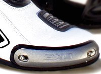 Replacable motorcycle boot toe sliders