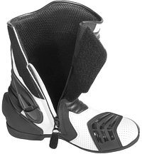 Motorcycle boot side entry system