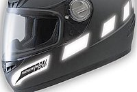 Reflective patches on your helmet improve safety