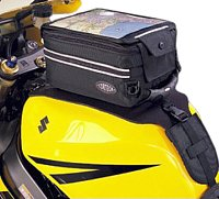 Click here for a great place to find a  strap mounted tank bag…