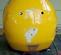 Damaged helmet shell needs replacing
