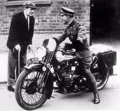 George Brough with T.E. Lawrence