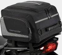 A large tail bag can carry enough gear for a long trip...