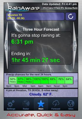 RainAware IPhone Screenshot
