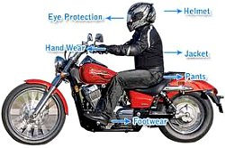 Choose motorcycle gear that will keep you safe and comfortable