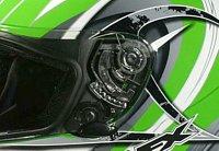 Helmet visor pivot mechanism